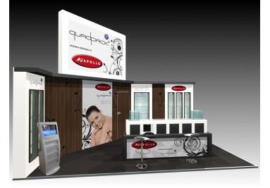 borne salon stand